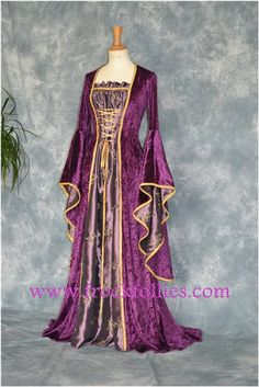 Zerlina a Renaissance Medieval Pagan Gown suitable by frockfollies