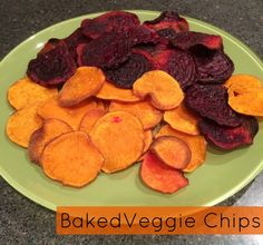 3 ingredient veggie chips! (And, 2 of the ingredients are the different veggies!) This is *so* easy!!