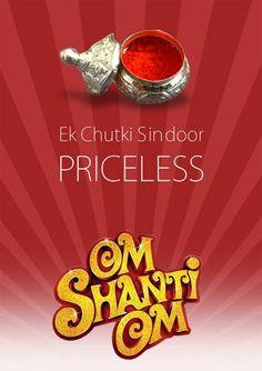 On Shanti Om - Minimalist Minimal Movie Posters, Minimal Poster, Film Posters, Bollywood Theme Party, Bollywood Wallpaper, Bollywood Posters, Om Shanti Om, Movie Titles, Romance Movies