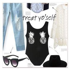 """treat yo'self"" by mycherryblossom ❤ liked on Polyvore featuring ADRIANA DEGREAS and rag & bone"