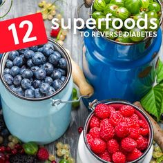 12 Superfoods to Reverse Diabetes If there's a silver lining to having type 2 diabetes it's that you can make a noticeable difference in your condition by the foods you eat each day. Diabetic Tips, Diabetic Snacks, Healthy Snacks, Pre Diabetic, Stay Healthy, Healthy Tips, Paula Deen, Diabetes Information, Diabetic Breakfast