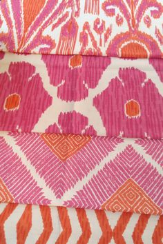 4 New fabrics in The John Robshaw Collection #fabric #bedroom #den
