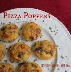 Paleo Pizza Poppers #gluten free #grain free