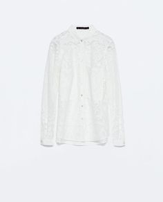 LACE SHIRT WITH POCKETS - Tops - WOMAN | ZARA United States