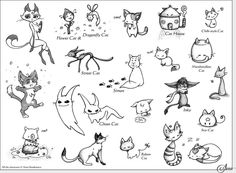 Cat Illustrations.