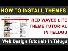 WordPress Telugu Videos :- How to Install Themes and Customize - https://www.howtowordpresstrainingvideos.com/wordpress-training-videos/wordpress-telugu-videos-how-to-install-themes-and-customize/