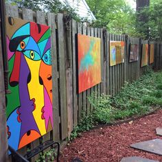 Art show on my deck, May 2015