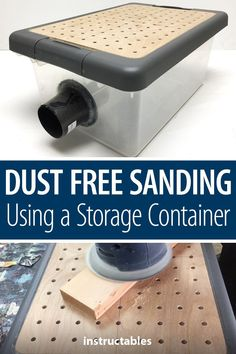 Woodworking Holz This simple project for dust-free sanding using a storage container can be finished in a single weekend. Holz This simple project for dust-free sanding using a storage container can be finished in a single weekend. Kids Woodworking Projects, Woodworking Workshop, Woodworking Furniture, Fine Woodworking, Diy Wood Projects, Easy Projects, Diy Furniture, Rockler Woodworking, Woodworking Hacks