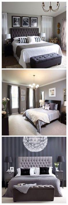 I love gray bedrooms!
