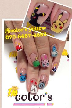 Pokemon nails. I love the detail on these!