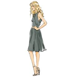V8901 | Misses' Dress | View All | Vogue Patterns