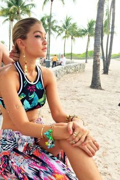 Gigi Hadid stars in a stunning new fashion campaign for Seafolly...