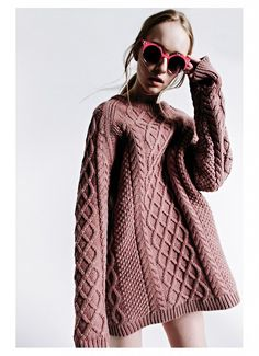 shot by Matt Lain, styled by Toni Caroline. Model wears TWP Oversized Knit Jumper in Dusky Pink