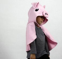 Pig Cape Childrens Costume  dress up kids by sparrowandbcostumery, $60.00