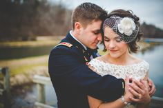 A birdcage veil perfectly accents short waves. | 31 Brides Who Absolutely Rocked Short Hair On Their Wedding Day