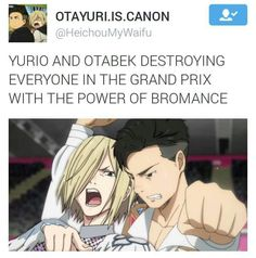 Correct bromance to gay and then they rival Viktor and Yuuri Otabek x Yuri Plisetsky / Yuri on Ice / #yoi