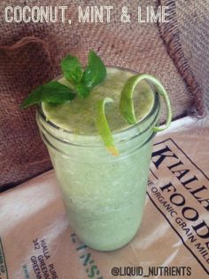 Natural Raw C - Coconut, mint and lime smoothie. By Emily Liquid Nutrients