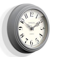 Newgate Dormitory Clock in Mint in Wall Clocks Grey Clocks, Green Wall Clocks, Kitchen Wall Clocks, Wall Clock Dial, Hand Clock, Mint Ice Cream, Mantel Clocks, Grey Home Decor, Wall Clock Design
