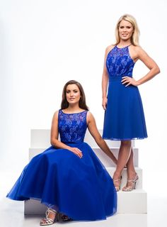 Fabric Lace/Tulle Dress Peacock Use Lace Colour Card… Tea Length Bridesmaid Dresses, Beautiful Bridesmaid Dresses, Bridesmaids, Evening Dresses, Prom Dresses, Formal Dresses, Tulle Dress, Dress For You, Special Day
