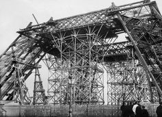 vintage everyday: 15 Vintage Pictures of the Iconic Eiffel Tower Under Construction in Paris from 1887