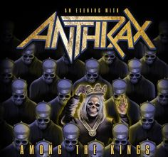 """ANTHRAX will celebrate the anniversary of its classic album """"Among The Living"""" by performing the LP in its entirety on a U. tour in February Manchester Academy, Heavy Metal Rock, Extreme Metal, Metal Albums, 35th Anniversary, Tour Posters, Great Albums, Rock Concert, Gig Poster"""