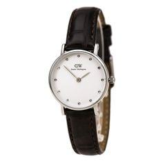 ce1cc2df7f9ef Daniel Wellington 0922DW Women s Classy York Crystal White Dial Dark Brown  Strap Watch Uhren Kaufen