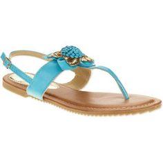 Victoria K. Women's Flower Sandals, Size: 8, Blue