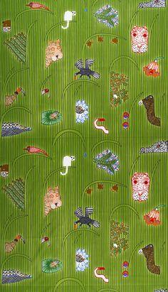 Marimekko Afrikan Kuningatar Green Fabric Repeat  $56.00