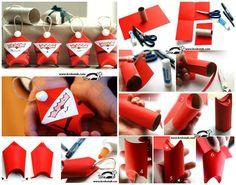 Santas de tubos de cartón