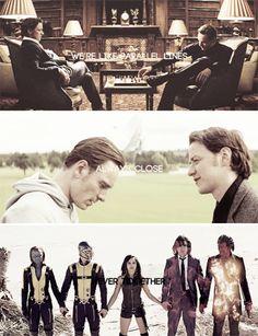 We're like parallel lines. Always close. Never together. #marvel