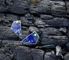 Imagine walking into a secluded forest, surrounded by no one but nature. you find these earrings, resting on a fallen tree, as if waiting for you. Fallen Tree, Nature Aesthetic, Blue Earrings, Autumn Trees, Suddenly, 925 Silver, Contemporary Art, Waiting, Minimalist