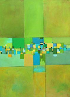 """Saatchi Online Artist: Deborah Batt;   """"Rural Decay"""" Acrylic on canvas 30x40x1 in"""
