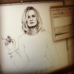 American Horror Story, Jessica Lange as Fiona Goode, illustrated by Myrtle Quillamor