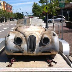 Barn Find On Street In Petaluma Ca Jaguar Xk Garage Rusty Cars