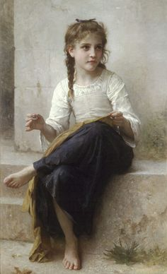 La couturiere [Sewing] by William Bouguereau, 1898