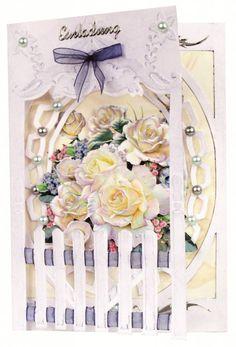 Bastelset: Zaunkarten Rosen - Hobby, Crafts and Paperdesign