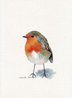 I keep seeing bird drawings like these, So cute.