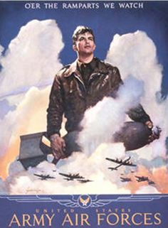 WW2 Army Air Force recruiting poster  ---------------------our dad