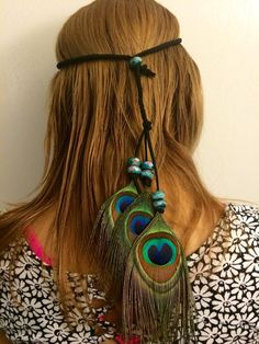 PeacockTribal Headband Native American by enchantedheadwear