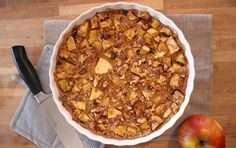 """Taartals ontbijt? Ja. Taart als tussendoortje? JA! Wel met deze super gezonde appel-havermout 'taart'. Dit appel-havermout baksel is namelijk gemaakt van allemaal gezonde ingredienten en bovendien vliegensvlug in elkaar te draaien. Enweet je wat helemaal fantastisch is? Het smaakt en ruikt naar appeltaart! Wat wil je nog meer? Bekijk hieronder... <a href=""""http://cottonandcream.nl/snelle-appel-havermout-taart-als-ontbijt/"""">Read More →</a>"""