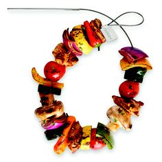 The Fire Wire Flexible Grilling Skewers hold twice as much food as a standard straight skewer.#bbq #barbecue