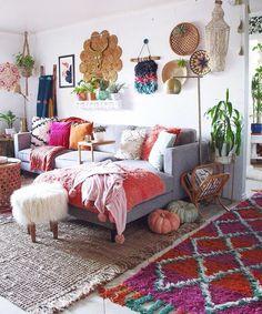 Beautiful Boho Pillows for Interior Living Room Decor - Home Decor Interior Hippie Living Room, Living Room Decor, Bedroom Decor, Wall Decor, Hippie Home Decor, Bohemian Decor, Global Decor, Ideas Hogar, Apartment Living