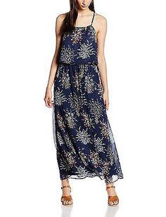 18, - navy floral print 59C0, s.Oliver Women's Kleid Lang Dress NEW
