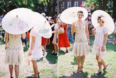 1920s wedding idea for bridesmaids dresses