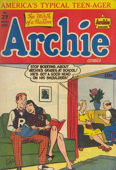 A cover gallery for the comic book Archie Archie Comics Characters, Archie Comic Books, Vintage Comic Books, Vintage Comics, Vintage Toys, Archie Betty And Veronica, Archie Comics Riverdale, Comic Panels, Classic Comics