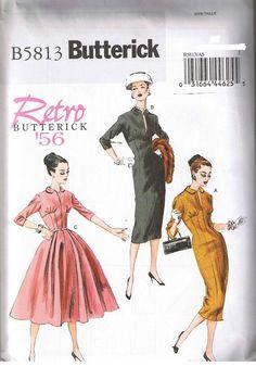 Vtg 50s Retro Princess Rockabilly Wiggle Dress Sewing Pattern Sz 14 16 18 20 22 #Butterick #1950sRetro