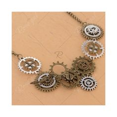 Circle Gear Pendant Necklace ($3.06) ❤ liked on Polyvore featuring jewelry, necklaces, circle pendant necklace, circle necklace, circle jewelry and pendant necklace
