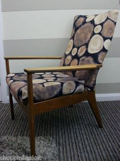 VINTAGE RETRO 1960s PARKER KNOLL FIRESIDE ARMCHAIR NEWLY REUPHOLSTERED IKEA FAB | eBay
