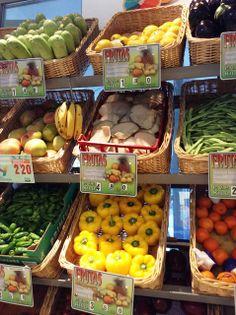Fruta y verdura en el mercado Victoria