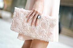 Petit sac rose pâle